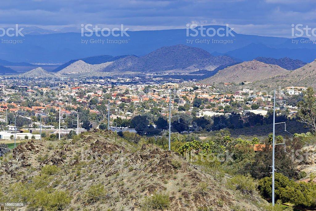 Winter in Northern Phoenix, AZ royalty-free stock photo