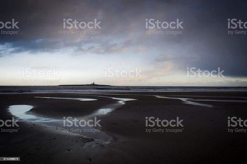 Winter in Northumberland stock photo