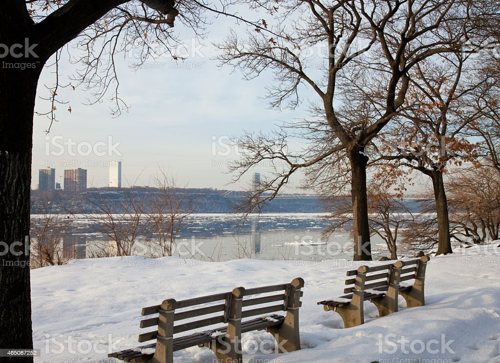 winter in NYC stock photo