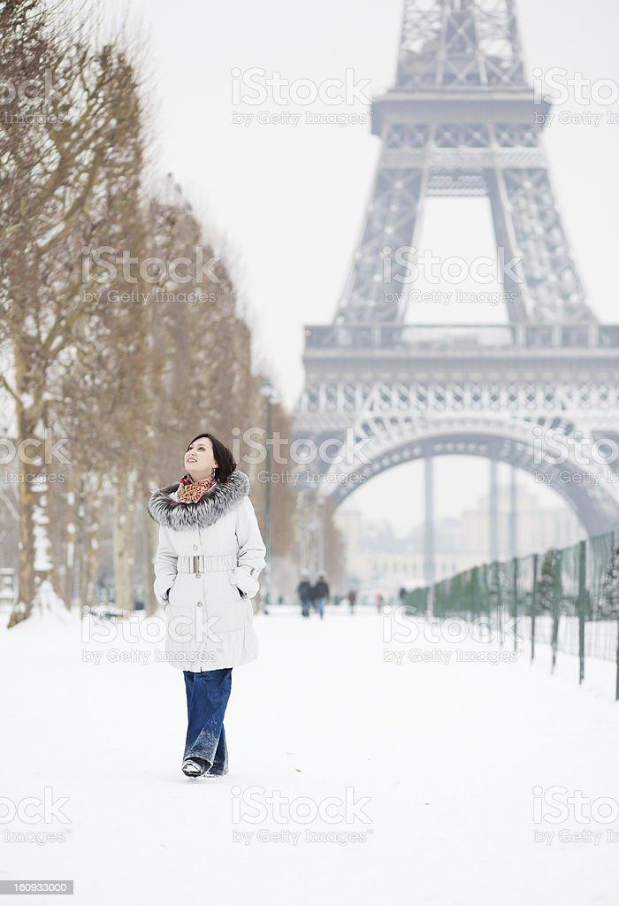 Winter in Paris royalty-free stock photo