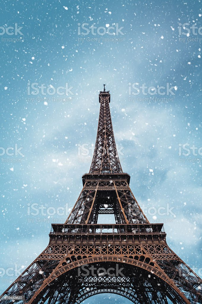 Winter In Paris stock photo