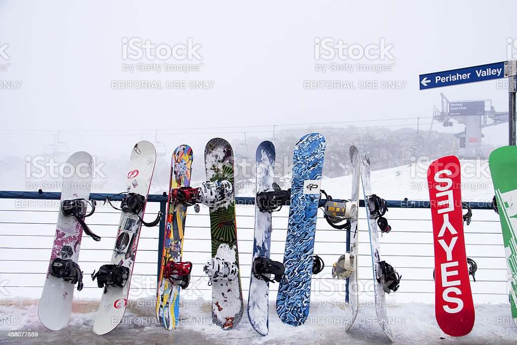 Winter in Perisher royalty-free stock photo