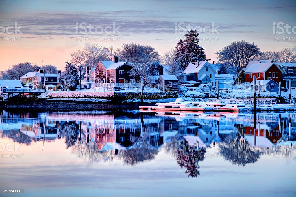 Winter in Portsmouth, New Hampshire stock photo