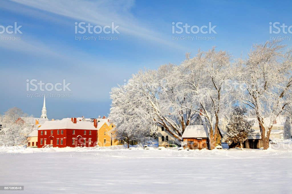 Winter in Portsmouth, New Hampshire royalty-free stock photo