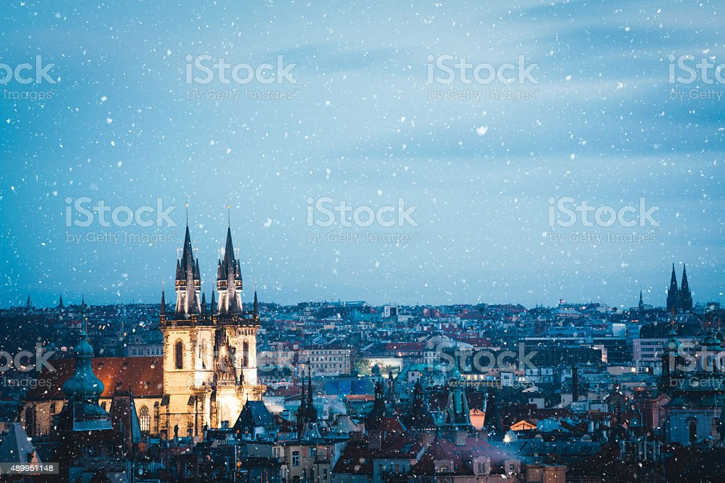 Winter In Prague stock photo