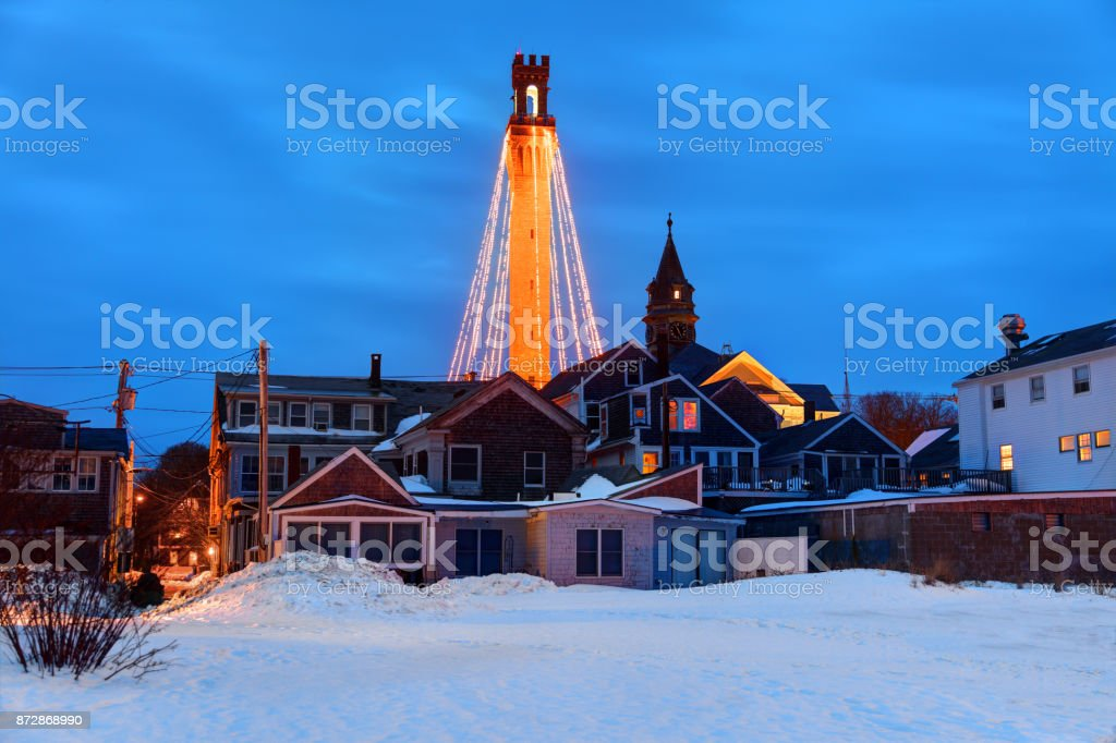 Winter in Provincetown stock photo