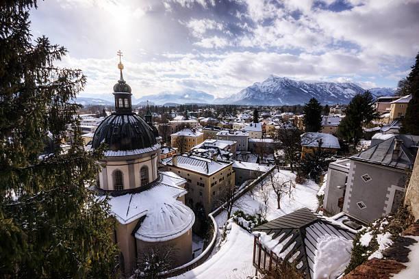 Winter in Salzburg, Österreich – Foto