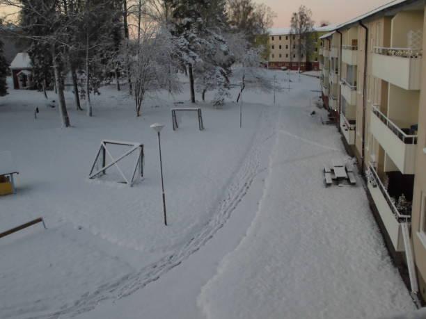 winter in Södertälje stock photo