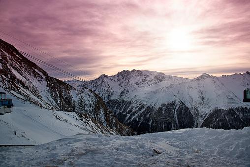 Winter in the Alps mountains, Ischgl Austria.