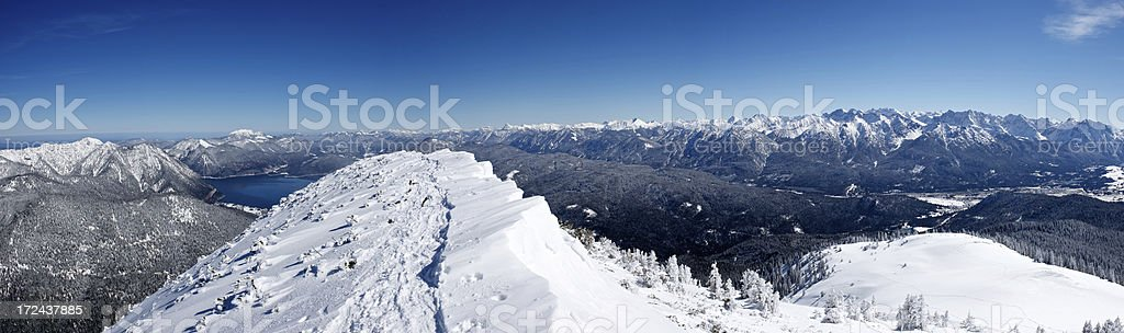 Winter in the Alps panorama royalty-free stock photo