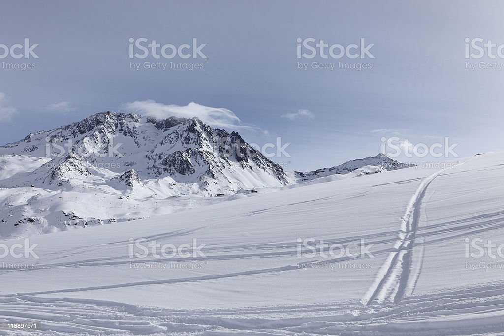 winter in The Alps royalty-free stock photo