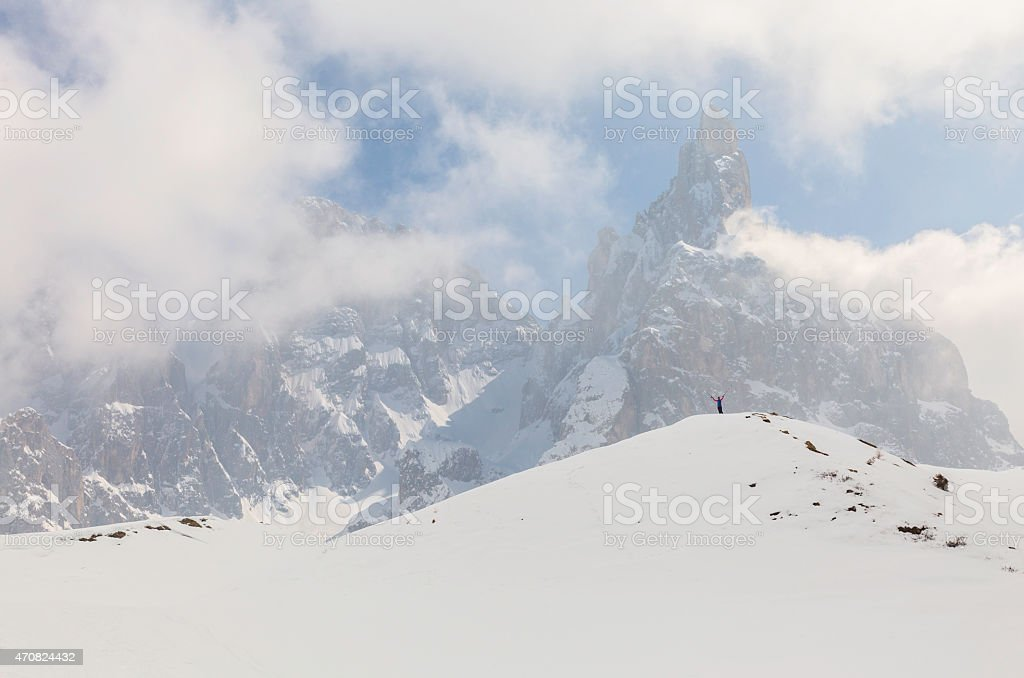 winter in the alps stock photo