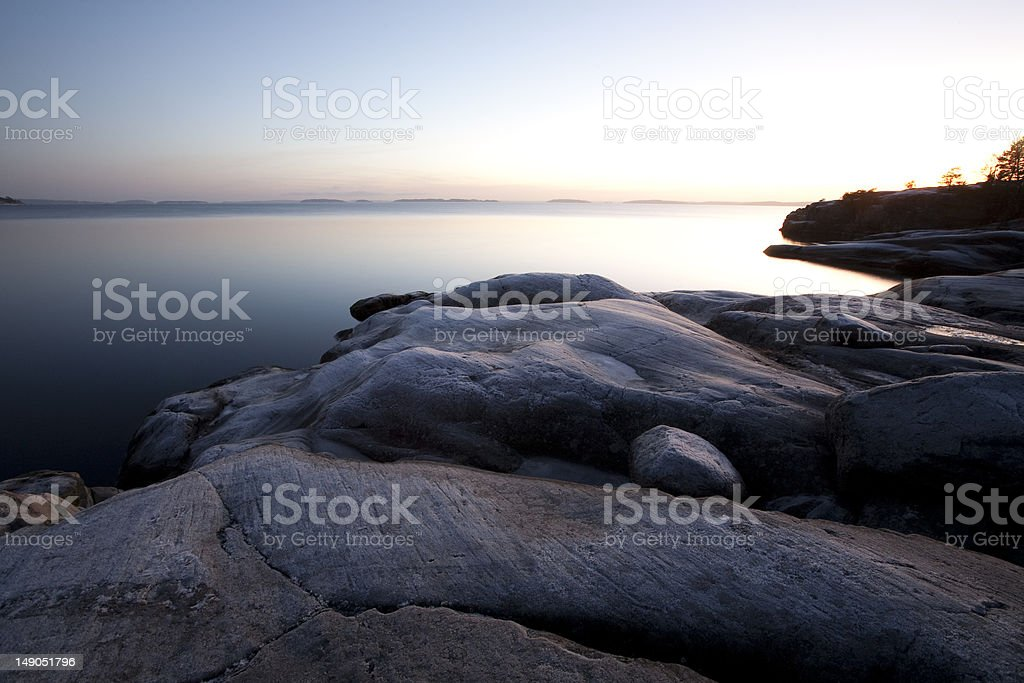 Winter in the archipelago of Stockholm stock photo