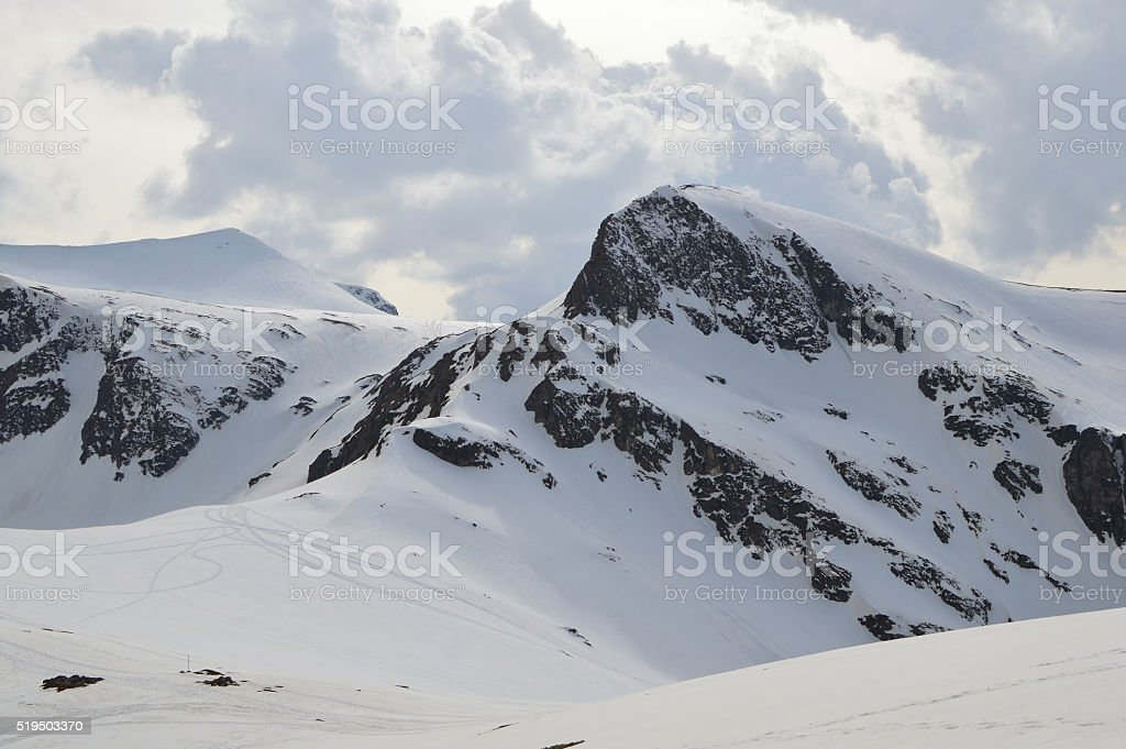 Winter in the area of The Seven Sacred Lakes stock photo