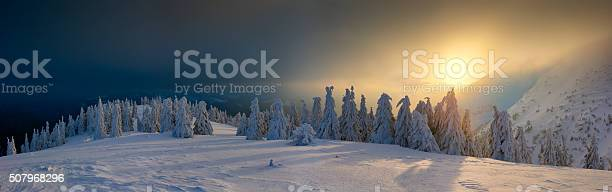Photo of Winter in the Carpathian mountains