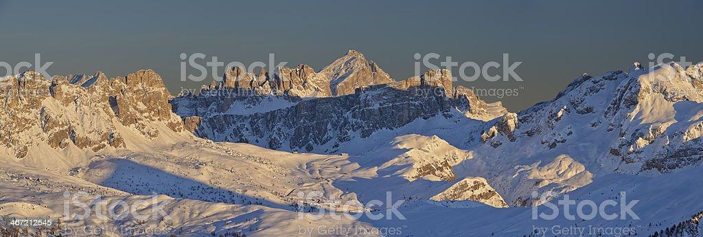 Winter in the Dolomites stock photo