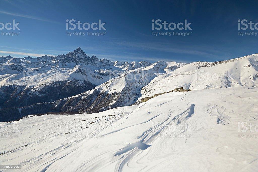 Winter in the scenic italian Alps royalty-free stock photo
