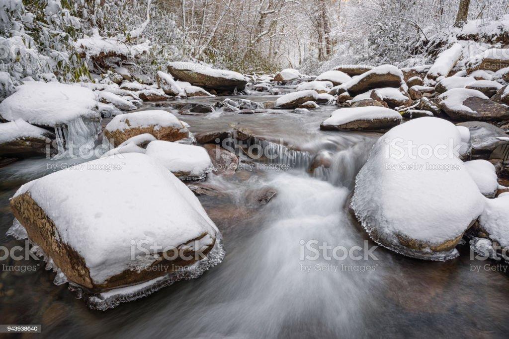 Winter in the Smokies stock photo