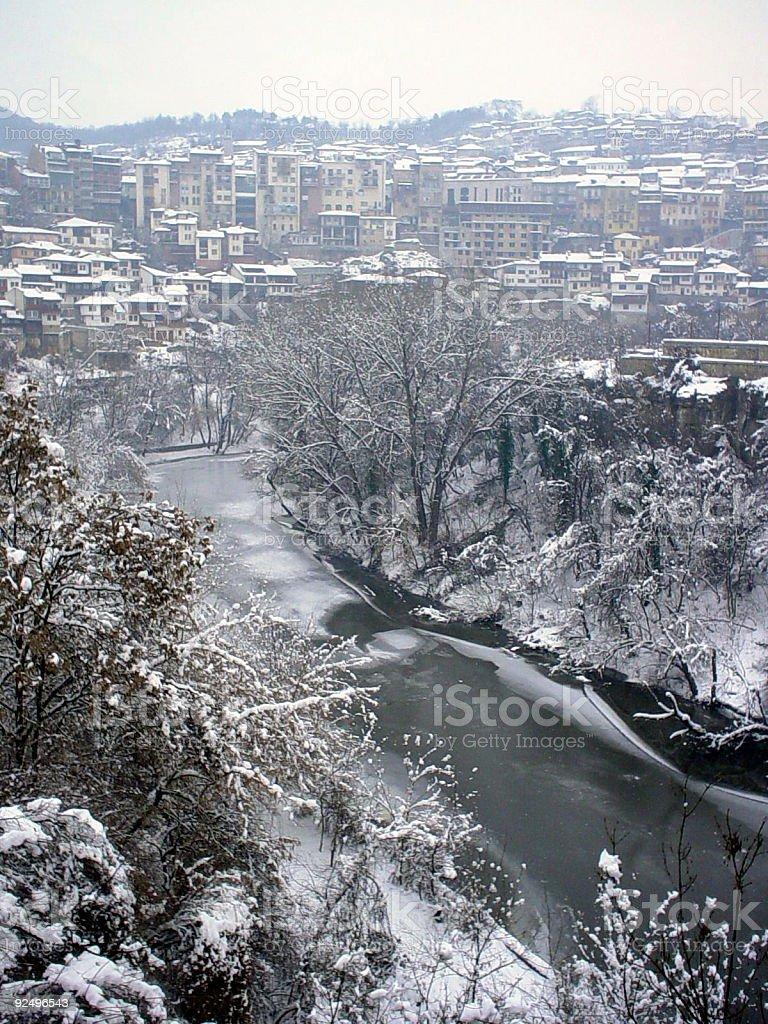 Winter in Veliko Trnovo royalty-free stock photo