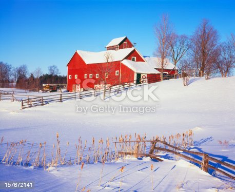 Rustic Old Red Barn And OutBuildings Craftsbury Commons, Vermont