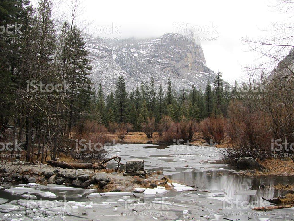 Winter In Yosemite National Park stock photo