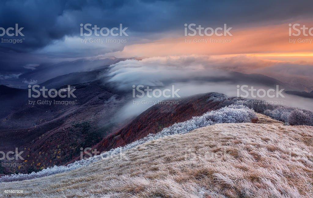 L'hiver approche. photo libre de droits