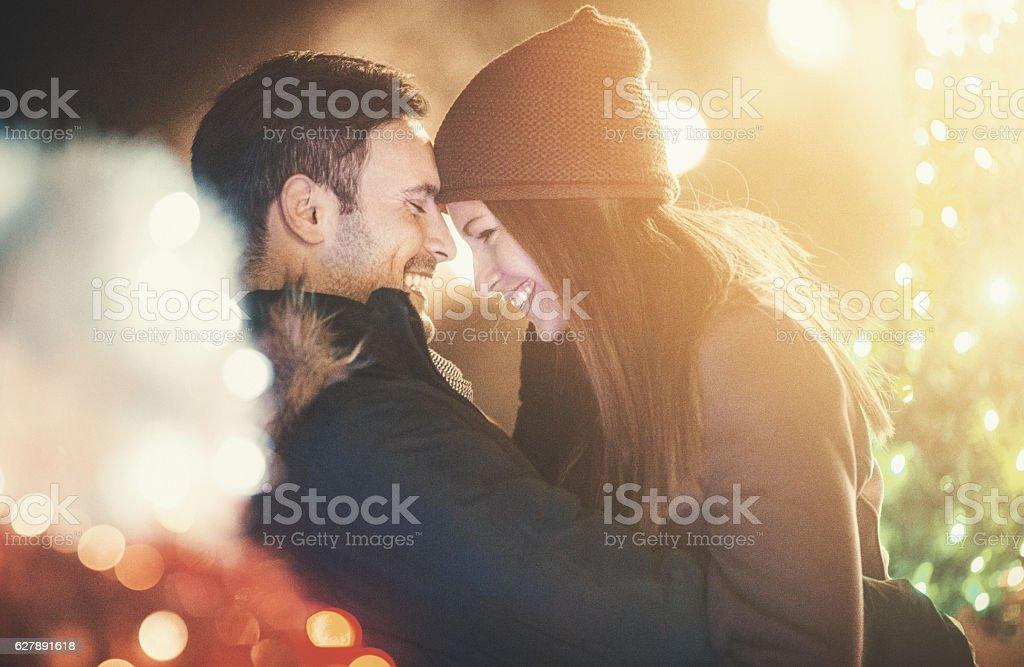 Winter is romantic. stock photo