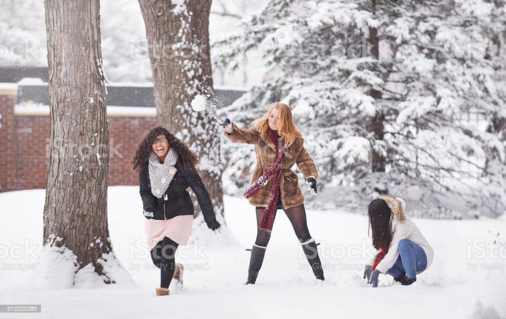 L'hiver est amusant de neige - Photo