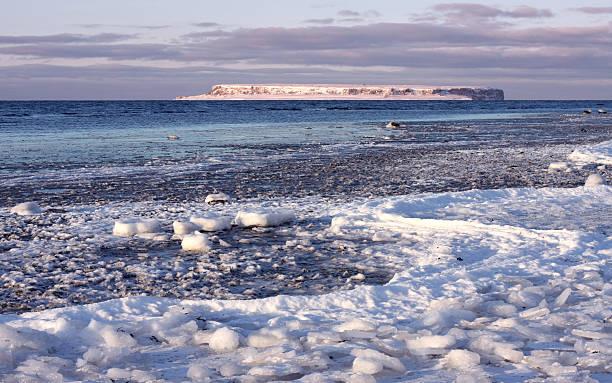 Winter Island bildbanksfoto