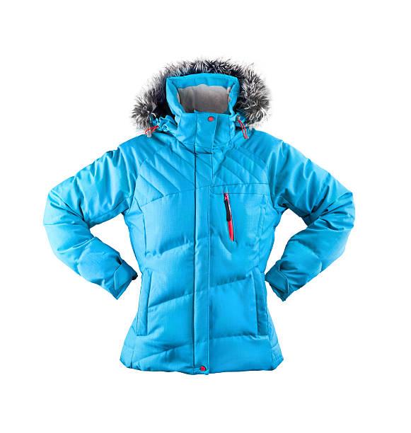 winter jacket isolated on white - 冬天大衣 個照片及圖片檔
