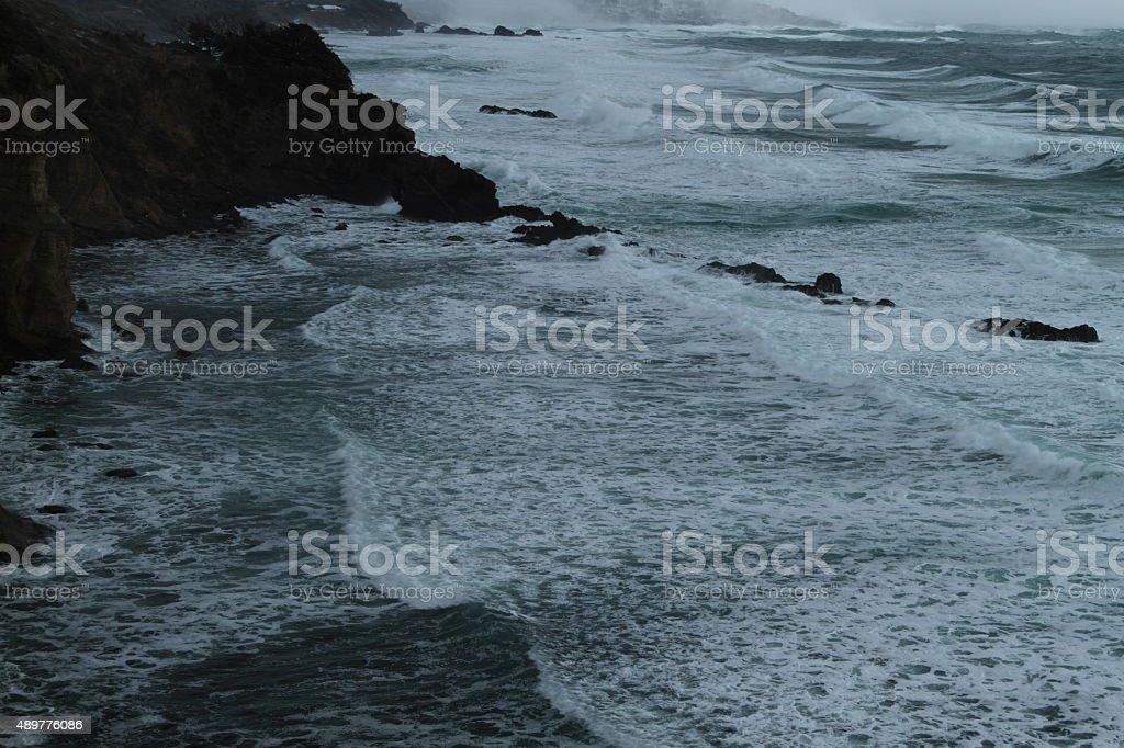 冬の日本の海 ストックフォト