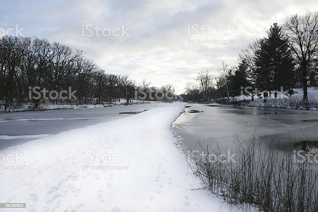Deque de inverno foto royalty-free