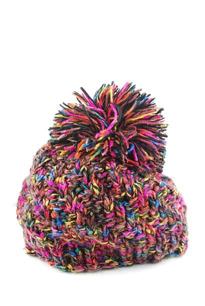 winter-hut - zipfelmütze häkeln stock-fotos und bilder