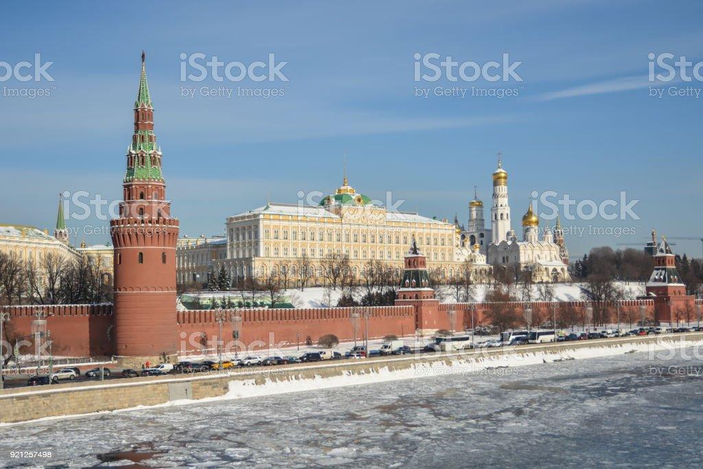 Winter Kremlin. stock photo
