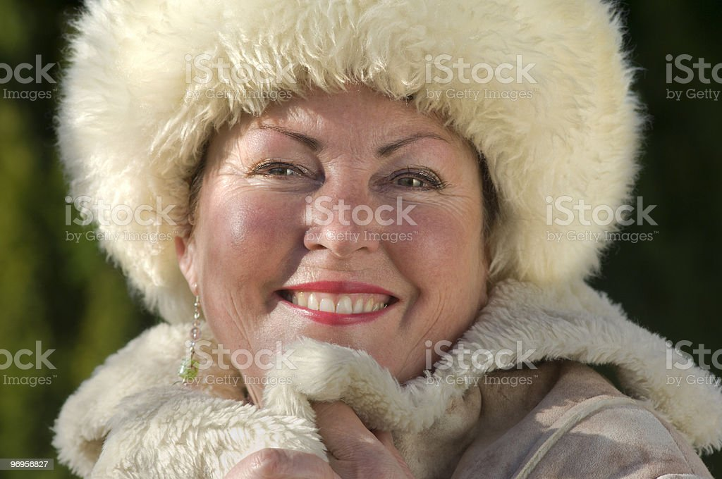 Winter Lady royalty-free stock photo