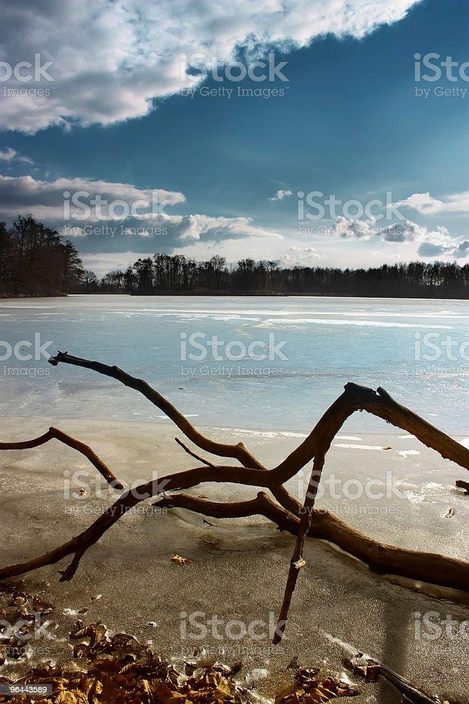 Lago de inverno - Foto de stock de Azul royalty-free