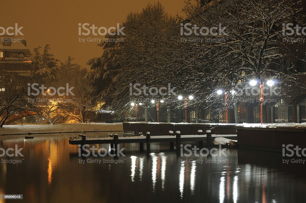 Winter Lake royalty-free stock photo