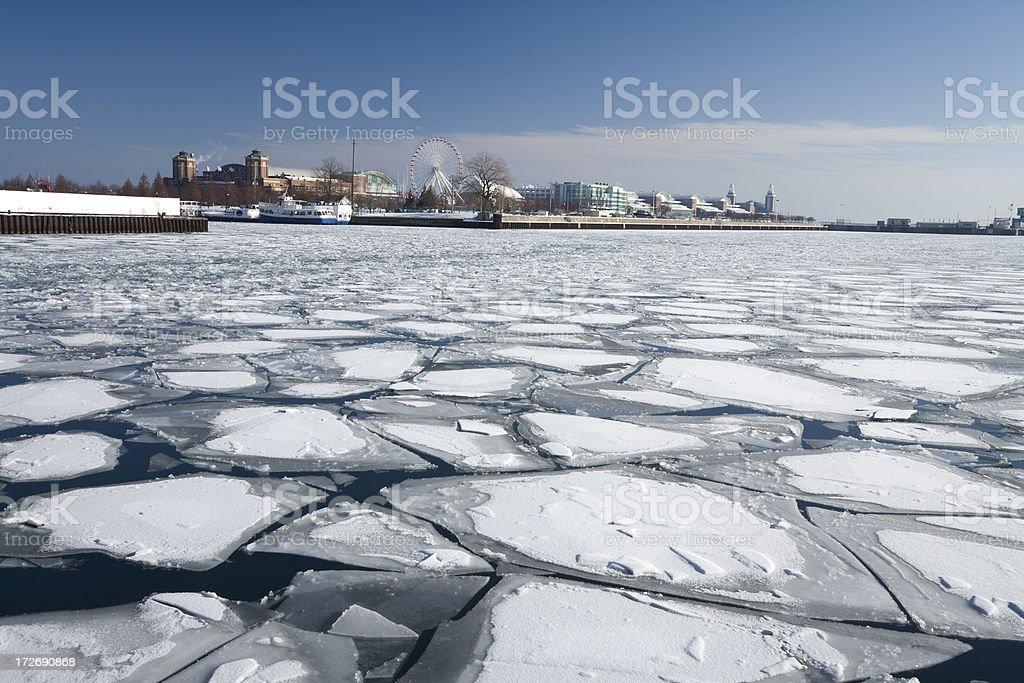 Winter Landmark Chicago stock photo