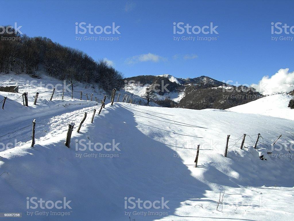 Winter Landscape 02 royalty-free stock photo