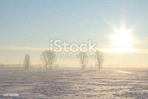 1034754000 istock photo Winter landscape at dawn 153785090