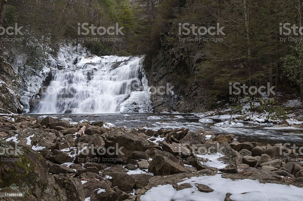 Laurel Falls in Carter County Tennessee royalty-free stock photo