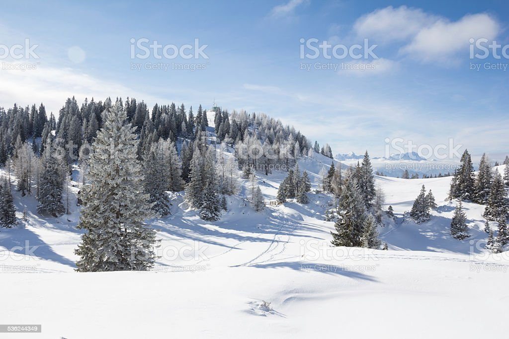 Winter-Landschaft in Mt. Dobratsch – Foto