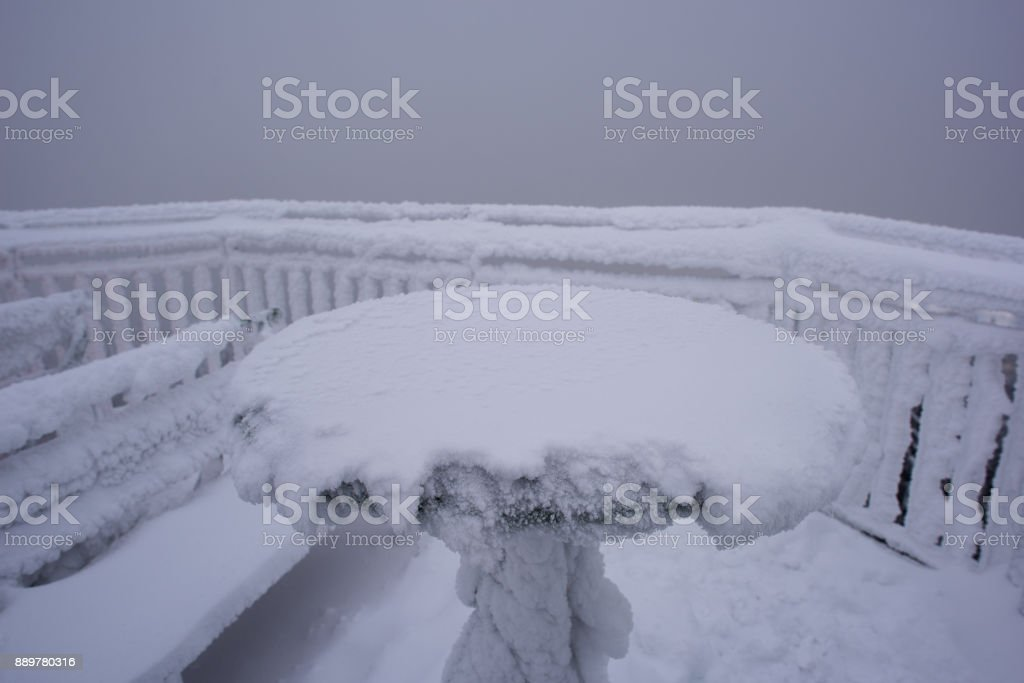 winter landscape black forest germany, Hochblauen stock photo