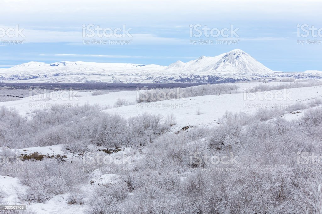 Winter landscape Iceland foto stock royalty-free
