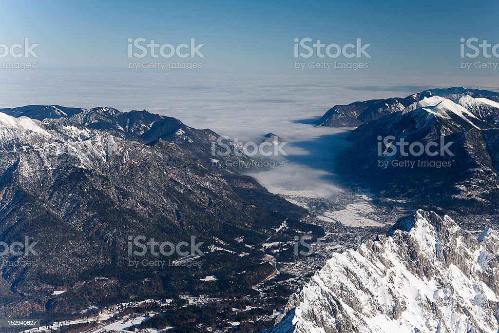 winter landscape in alps royalty-free stock photo