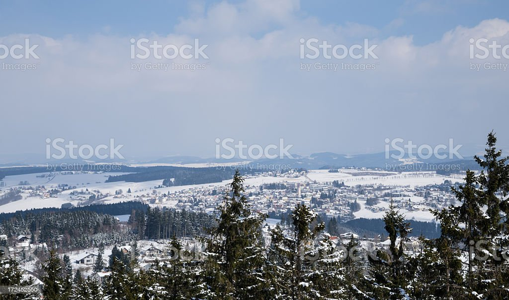 Winter landscape in Austria stock photo