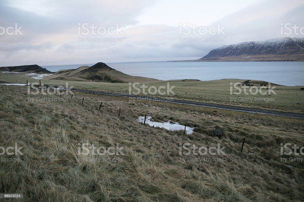 winter landscape in Iceland stock photo