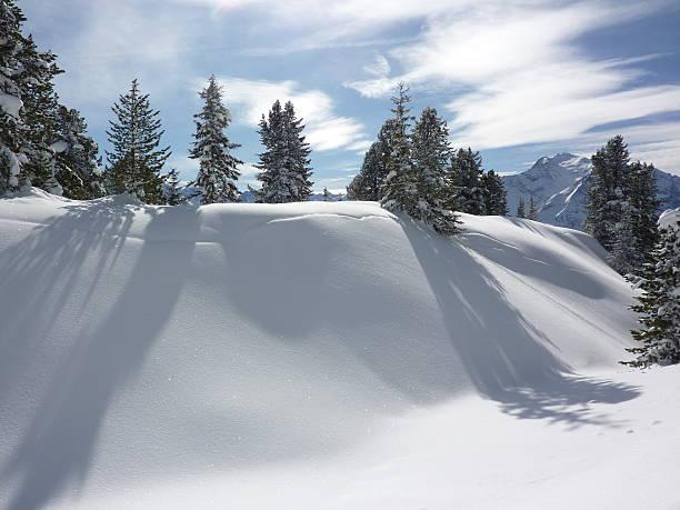 Winterlandschaft in den Alpen zu Weihnachten – Foto