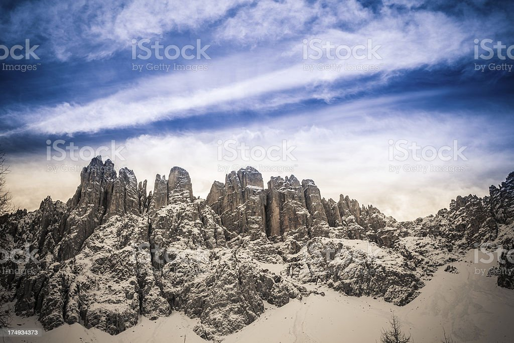 Winter Landscape in the Dolomites stock photo