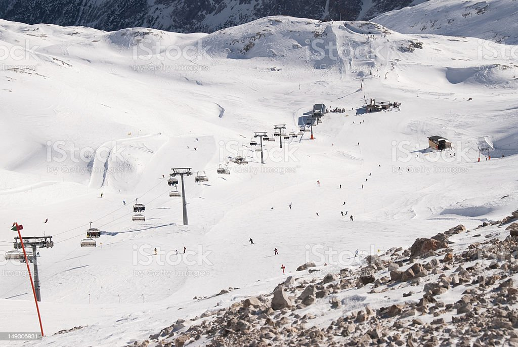 Winter landscape in the Zugspitze, Bavary, Germany. royalty-free stock photo